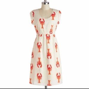 ModCloth Downeast Maine Event Lobster Dress M